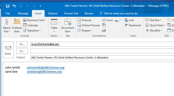 OCYF Child Welfare Placement Budget Documentation Training