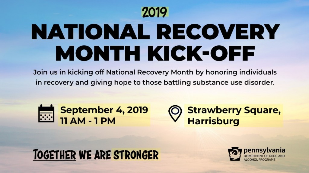 Natl Recovery Month Kickoff 2019